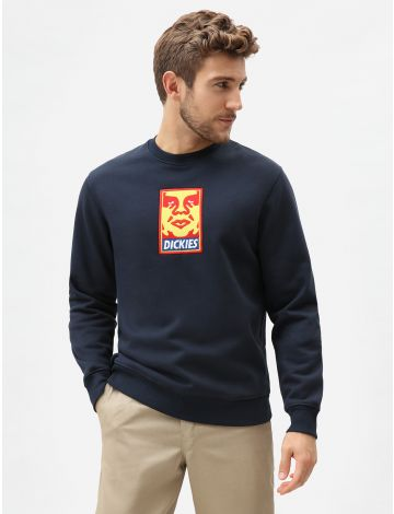 Obey Vs Dickies Heavyweight Crew Jumper