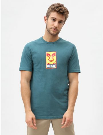 Obey Vs Dickies Heavyweight Logo T-Shirt