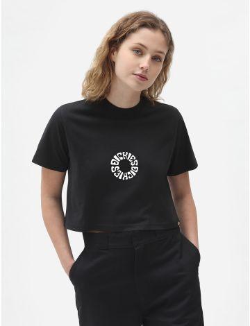 Kurzgeschnittenes Globe-T-Shirt