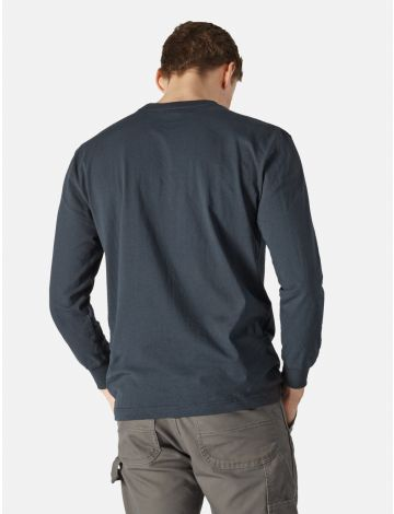 T-Shirt Poche Poitrine à Manches Longues