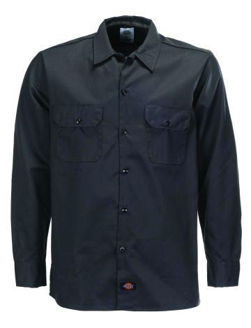 Slim Fit Long Sleeve Work Shirt